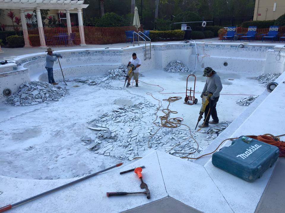 commercial pool renovations