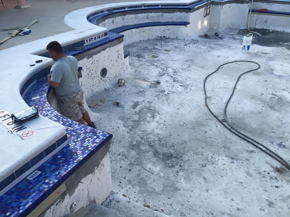 commercial pool renovation process